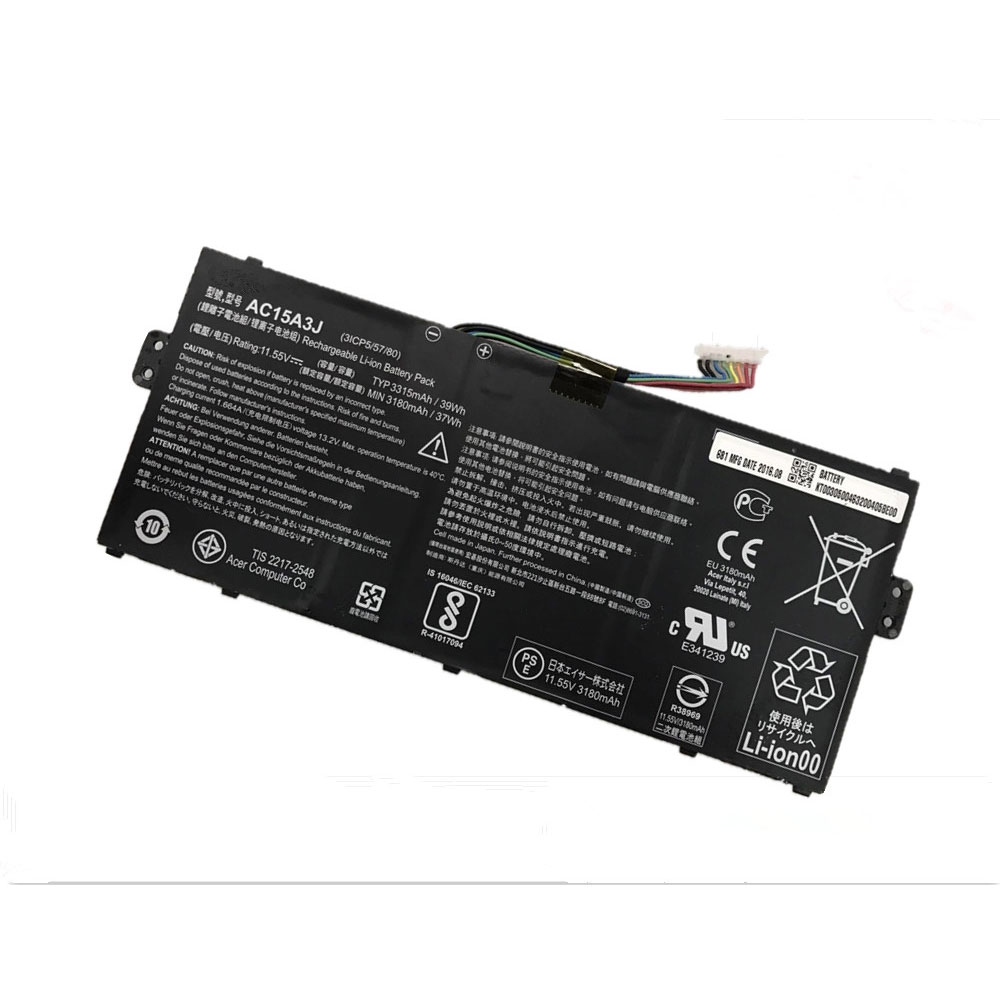 AC15A3J Batterie ordinateur portable