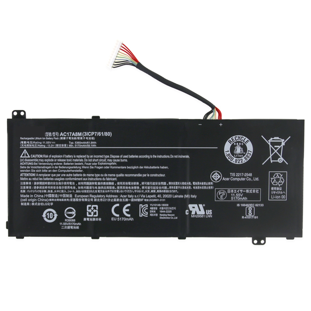 AC17A8M Batterie ordinateur portable