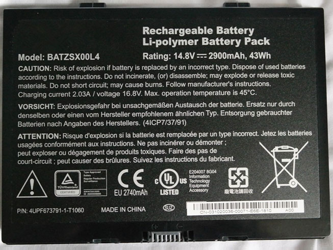 BATZSX00L4 pc batterie