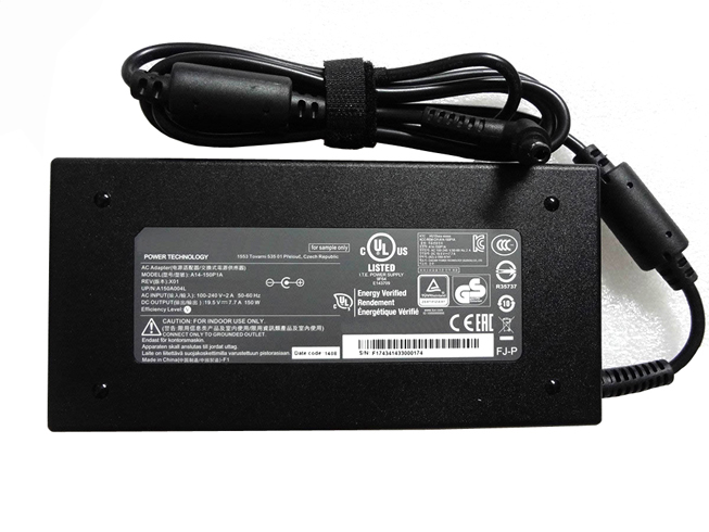 ADP-150VB 100-240V~2.7A  50-60Hz (for worldwide use) 19.5V   7.7A, 150W adapter